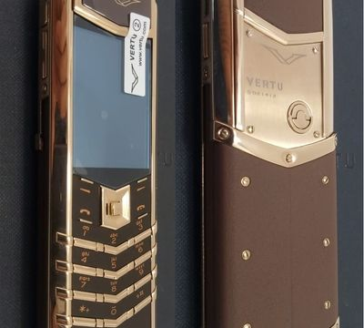Верту Vertu Signature S Design Brown + Gold реплика